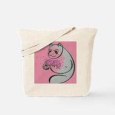 Panda Bear Pop Art Tote Bag