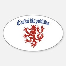 Ceska Republika Oval Decal