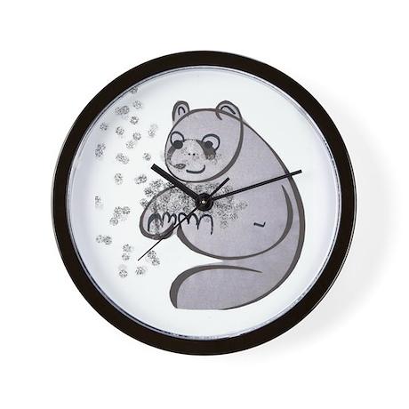 Panda Bear Pop Art Wall Clock