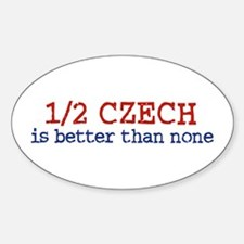 Half Czech Oval Decal