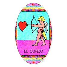 Vintage Loteria Cupid Oval Decal