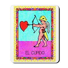 Vintage Loteria Cupid Mousepad