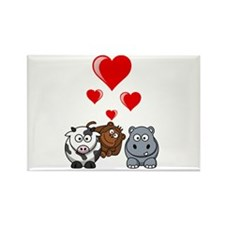 Valentine Beasts 2 Rectangle Magnet