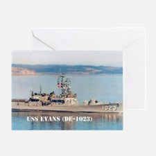 USS EVANS Greeting Card
