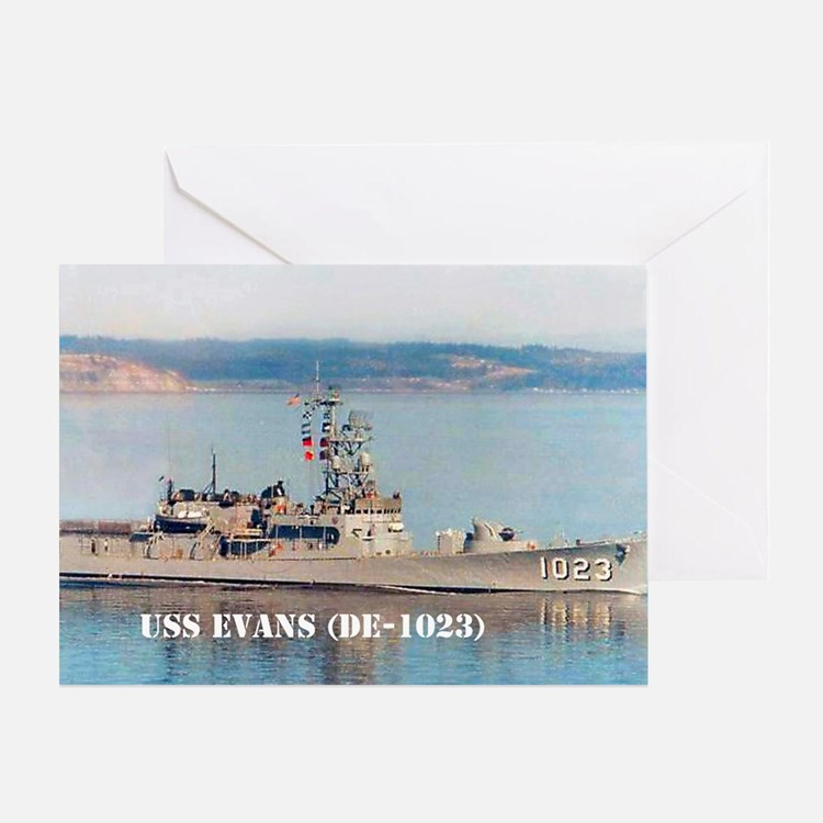 USS EVANS Greeting Card