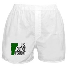 U.S. OUT OF VERMONT Boxer Shorts