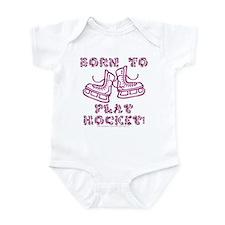 Born to Play Hockey Infant Creeper