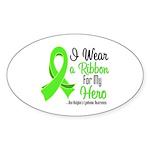 HeroNonHodgkinsLymphoma Oval Sticker (10 pk)