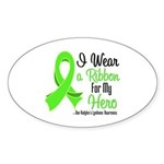 HeroNonHodgkinsLymphoma Oval Sticker (50 pk)