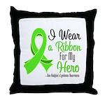 HeroNonHodgkinsLymphoma Throw Pillow