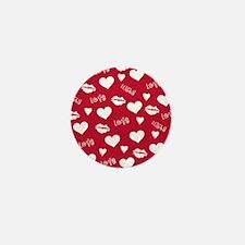 Love and Kisses Valentine Mini Button