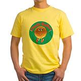 Charlie waffles Mens Yellow T-shirts