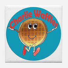 Charlie Waffles Tile Coaster