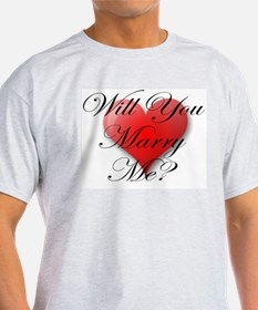 MARRY ME VALENTINE SHIRT Ash Grey T-Shirt