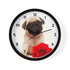 Pug Puppy Wall Clock
