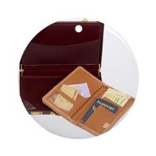 Business Boarding Pass Ornament (Round)
