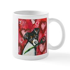 Rat Terrier Valentine rose Mug