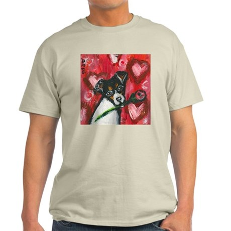 Rat Terrier Valentine rose Light T-Shirt