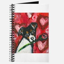 Rat Terrier Valentine rose Journal