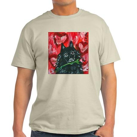 Schipperke Valentine Rose Light T-Shirt