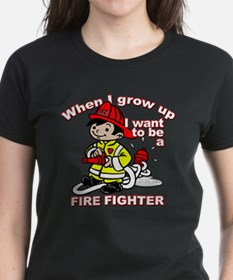 When I grow up Firefighter Tee