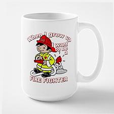 When I grow up Firefighter Large Mug