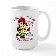 When I grow up Firefighter Mug