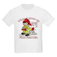 When I grow up Firefighter T-Shirt