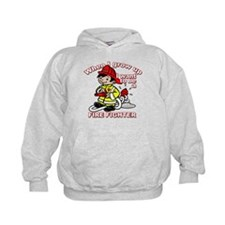 When I grow up Firefighter Hoodie