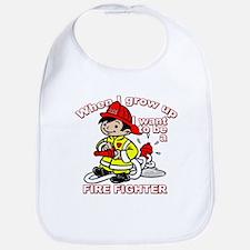 When I grow up Firefighter Bib