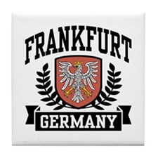 Frankfurt Germany Tile Coaster