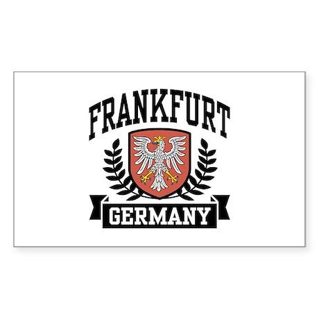 Frankfurt Germany Rectangle Sticker