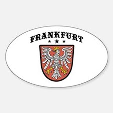 Frankfurt Germany Oval Decal