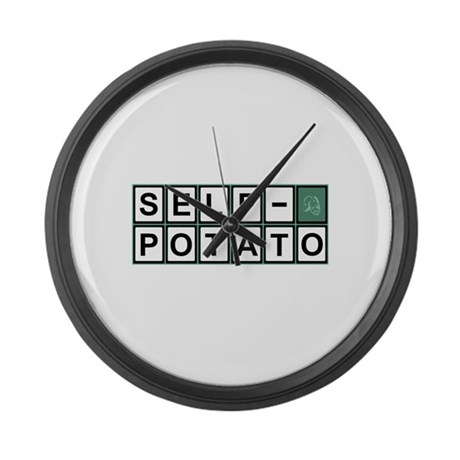 Self Potato Puzzle Solved! Large Wall Clock
