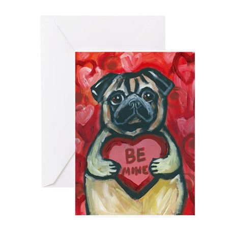 Pug Be Mine~2 Greeting Cards (Pk of 20)