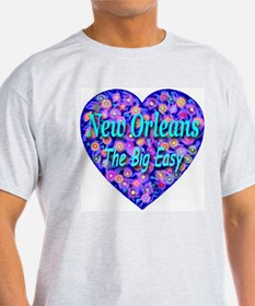 New Orleans The Big Easy Ash Grey T-Shirt