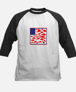 FISH FLAGGED Baseball Jersey
