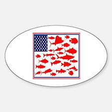 FISH FLAGGED Decal