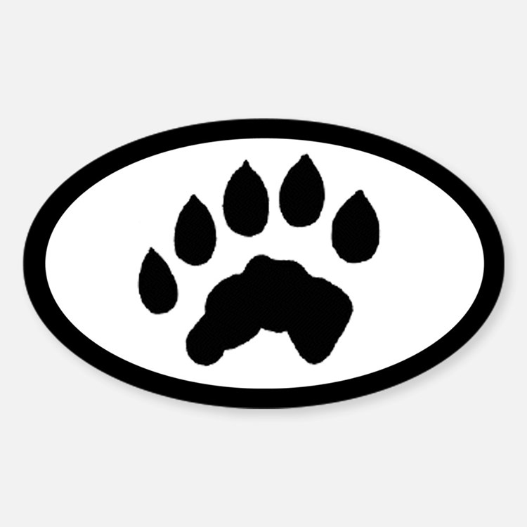 Otter Track Pawprint Euro Decal