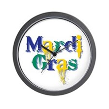 Mardi Gras bc Wall Clock