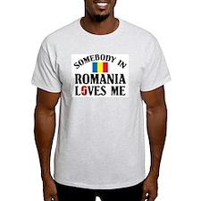 Somebody In Romania Ash Grey T-Shirt