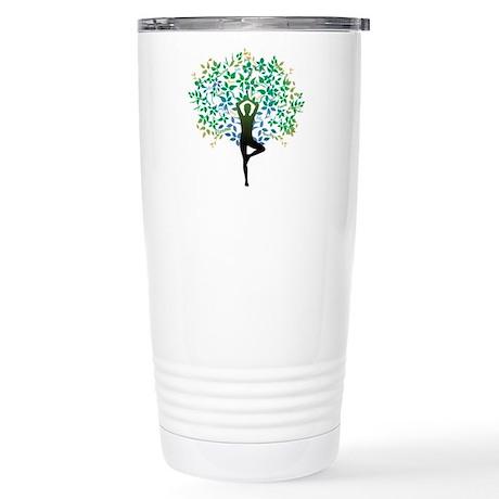YOGA TREE POSE Stainless Steel Travel Mug