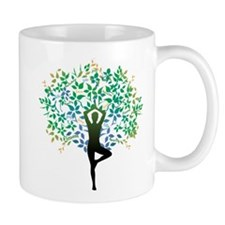 YOGA TREE POSE Small Mugs