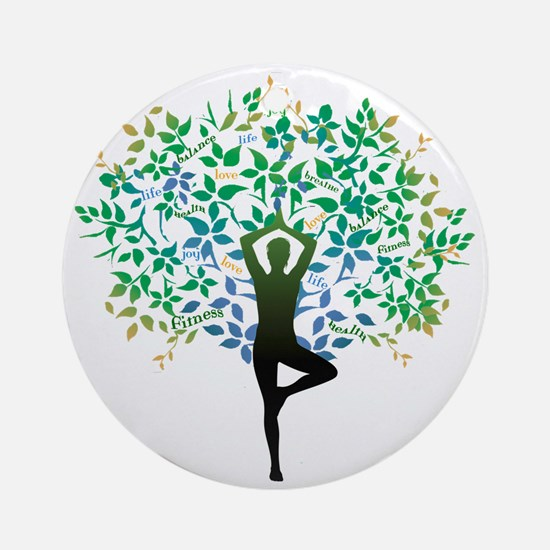 YOGA TREE POSE Ornament (Round)