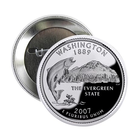 "Washington State Quarter - 2.25"" Button"