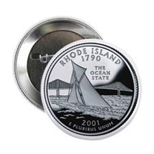 "Rhode Island State Quarter - 2.25"" Button"