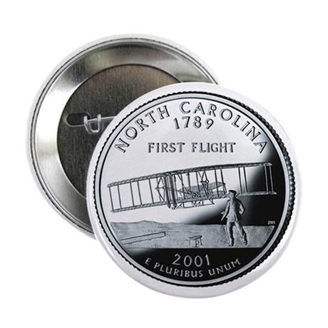 "North Carolina State Quarter - 2.25"" Button"
