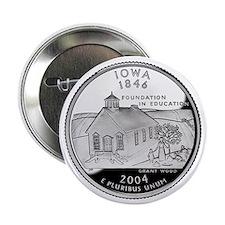 """Iowa State Quarter - 2.25"""" Button"""