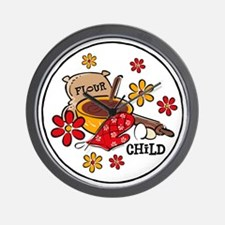 Flour Child Wall Clock