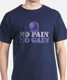 No Pain No Gain Volleyball T-Shirt